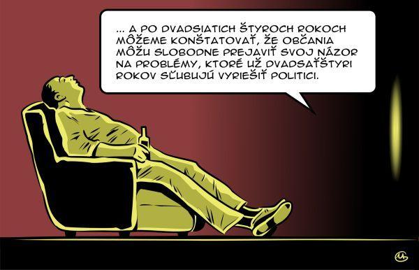 Zdroj: http://nazory.pravda.sk/kresba/clanok/299629-gasparec-18112013/  Gašparec, 18.11.2013